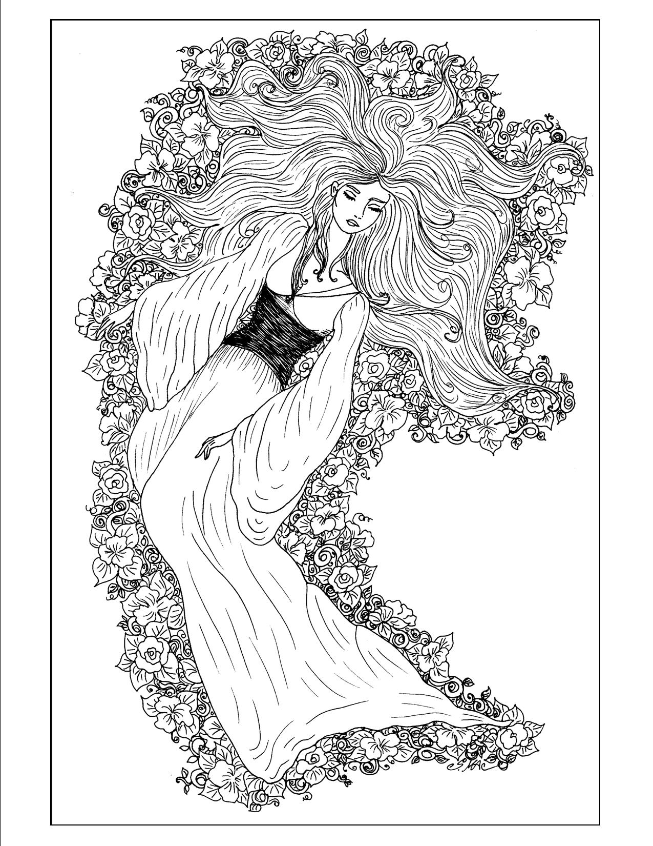 Art Nouveau Coloring Pages - S.Mac's Place to Be