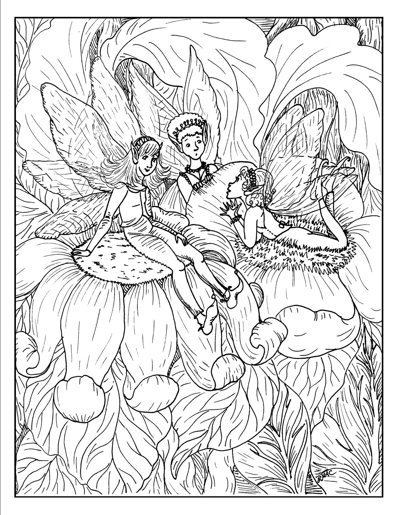 Fantasy Coloring Pages - S.Mac's Place to Be