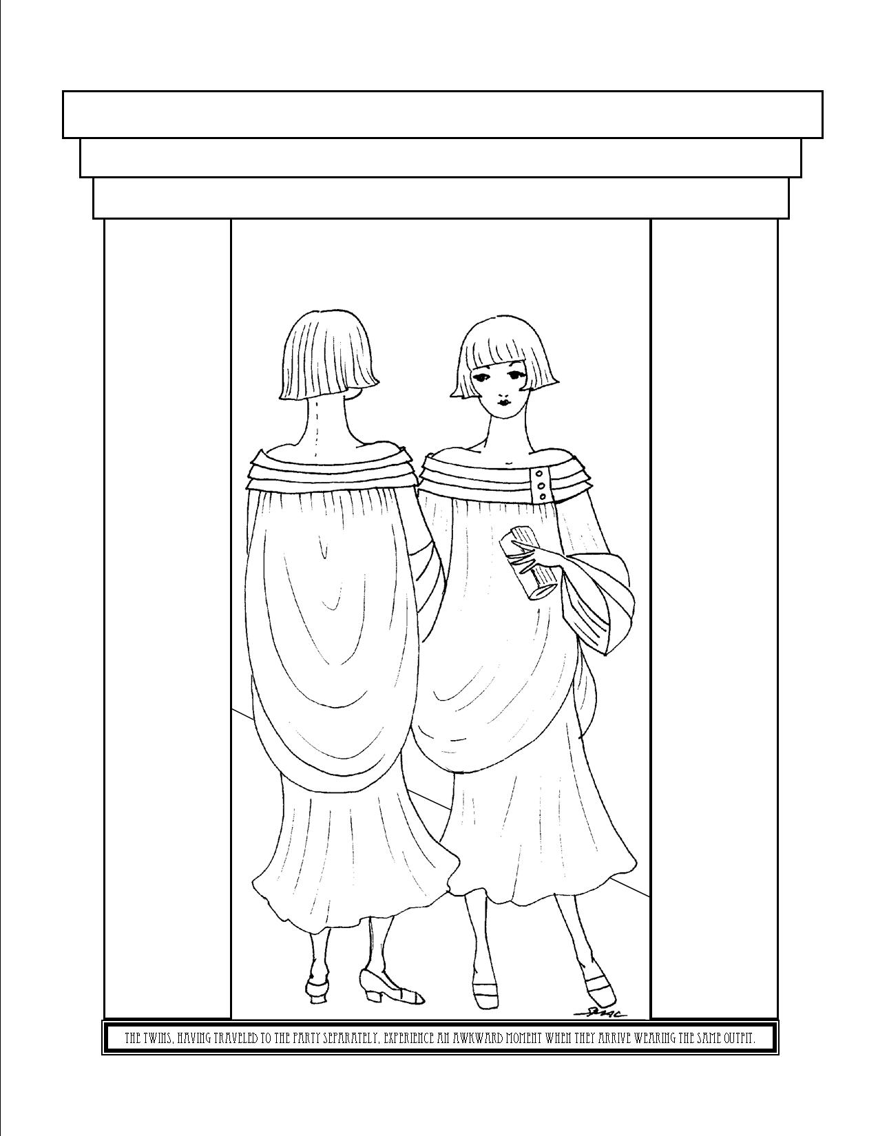 Art Deco Coloring Pages - S.Mac's Place to Be